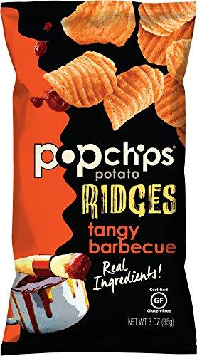 Popchips Potato Ridges, Tangy BBQ, 3 Ounce, 12 Count (Popchips Bbq Potato Chip)
