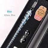 VIVISKY Crystal Glass Ink Gift Pen Vintage Handmade Did Pen For Writing Art Decoration- Four Color
