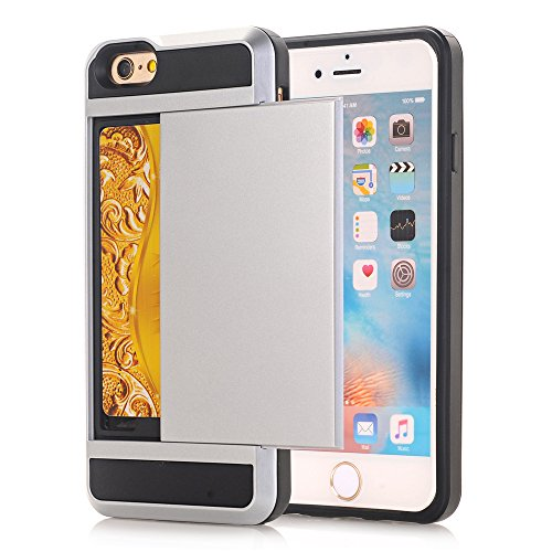 TPU/PC Shockproof Cover Case For Apple iPhone SE / 5G / 5S (Silver) - 2