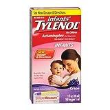 infant grape tylenol - TYLENOL Infants' Acetaminophen Oral Suspension Grape Flavor 1 OZ - Buy Packs and SAVE (Pack of 2)