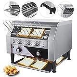 VEVOR 2600W Commercial Conveyor Toaster 450pcs per Hour Stainless Steel 110V 60HZ for Restaurant Breakfast, Sliver