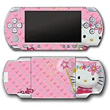 Hello Kitty Pink Shoes Fairy Wand Magic Video Game Vinyl Decal Skin Sticker Cover for Sony PSP Playstation Portable Original Fat 1000 Series System