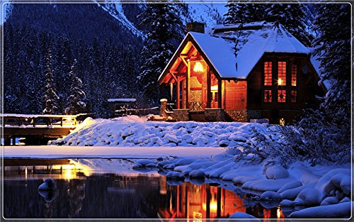 winter-cozy-mountain-lodge-emerald-lake-yoho-national-park-canada ...