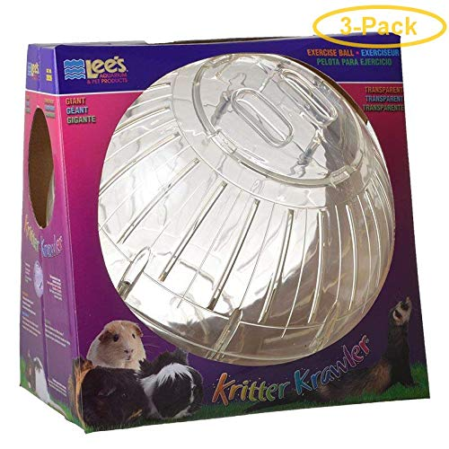 Kritter Krawler Pet Exercise Ball [Set of 3] Size: Giant (12.5'' W), Color: Clear by Lees Aquarium & Pet