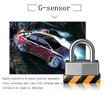 Cámara De Coche Full HD 1080P Dash Cam Gran Ángulo Dashcam , G-sensor,con sensor G de alta sensibilidad, detección de movimiento, monitor de estacionamiento ...