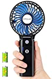 OPOLAR Portable Battery Operated Handheld Personal Desk Fan with 5-20 Hours Working Time/5200mA Power Bank,3 Setting, Strong Wind,Foldable Design, for Travel,Camping and Outdoor Activities