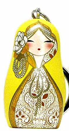 Babushka Kimmidoll Llavero, diseño de muñequita rusa: Amazon ...