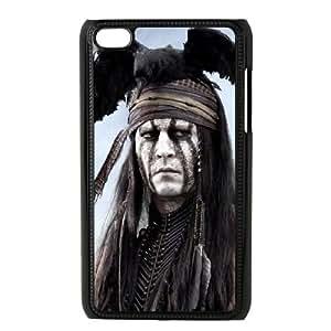 iPod 4 Black Cell Phone Case Lone ranger KVCZLW2332 Phone Case Cover DIY 3D
