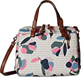 Fossil Rachel Satchel Handbag, Floral Multi/White