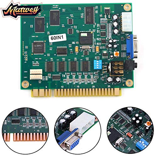 Marwey Classical Arcade Video Games 60 in 1 PCB Jamma Board Motherboard CGA/VGA Output High Resolution Manual ...