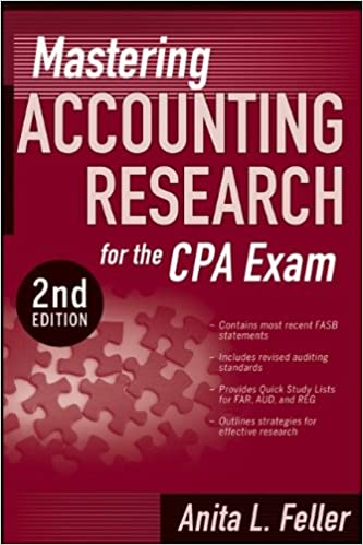 New PDF Release Mastering Accounting Research For The CPA Exam