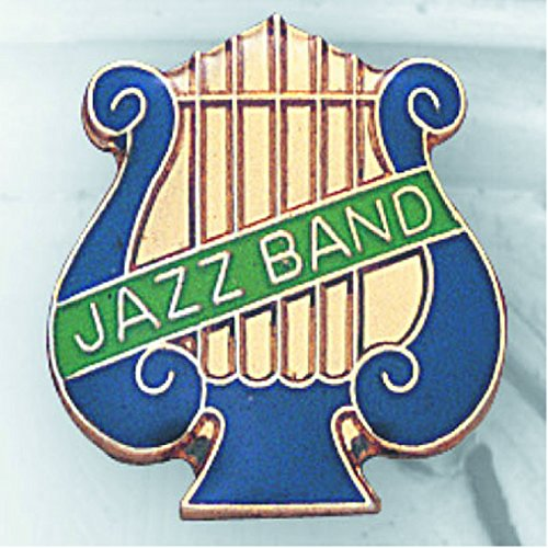 1 Inch Jazz Band Music Lyre Lapel Pin - Package of 12, Poly Bagged