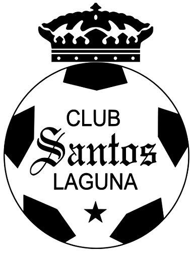 Blanc Santa (CLUB FUTBOL SANTOS LAGUNA CALCOMANIA BLANCA Vinyl decal white sticker 9'' width by 10.5'' height)