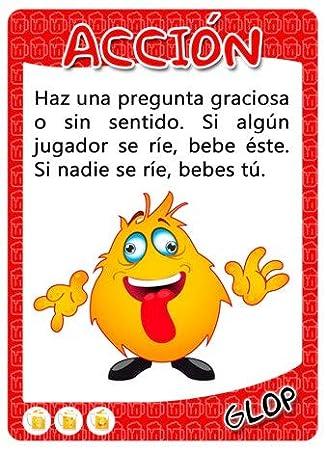 Juegos para Beber Drinking Games Juego de Beber para Fiesta en Espa/ñol 500 Cartas Glop 500 Cards in Spanish