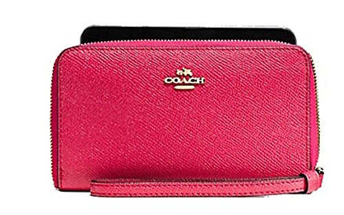 Coach Crossgrain Leather Full Zip Phone Wallet F58053 ()