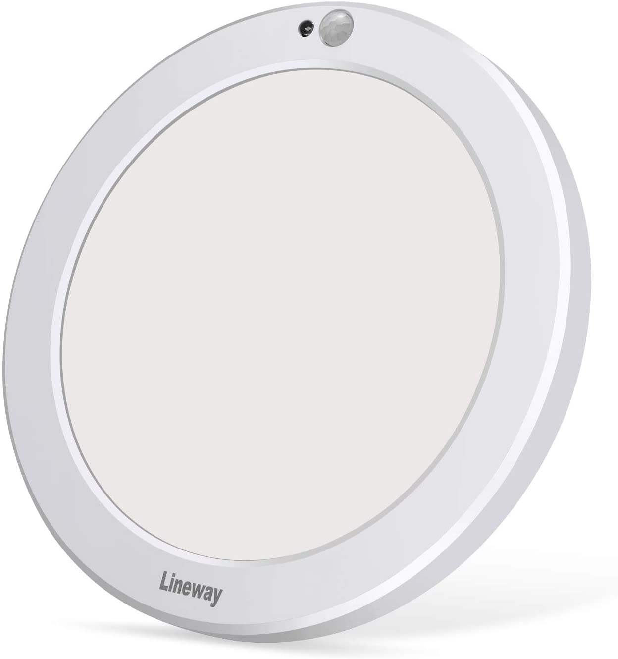 Lineway Motion Sensor Ceiling Light with 30s/180s Timeout Adjustable 3 Color Temperature, 3000K/4000K/6000K, 15W 1500lm LED Round Lighting Fixture for Closet Pantry Porch Stair Laundry