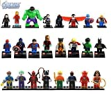 The Avengers Marvel DC Super Heroes Series Building Blocks Sets Minifigure Bricks Toys Compatible With 24Pcs/Set (No box, no card) by Jiego