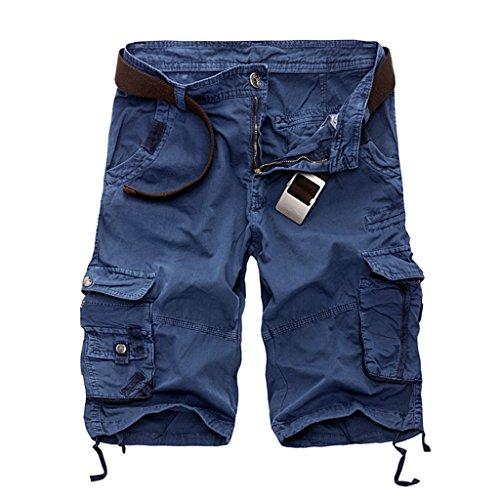 Kingsfun Men`s Casual Cargo Shorts Summer Beach Loose Pants