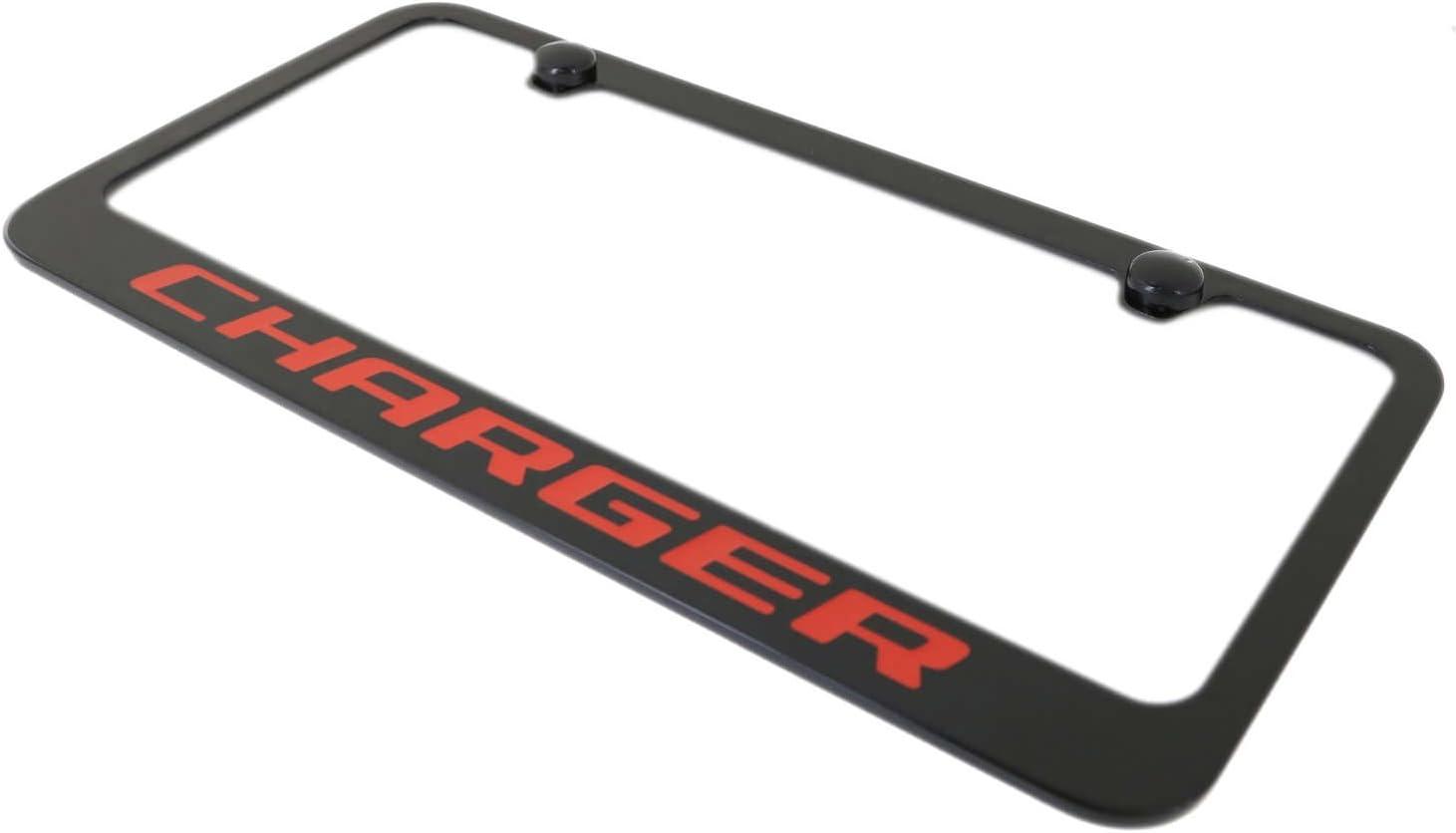Orange Elite Automotive Products Inc.Black License Plate Frame for Dodge Charger