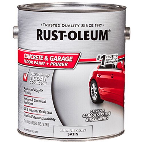 (Rust-Oleum 225380 Concrete and Garage Floor Paint, Battleship Gray Satin, 1-Gallon)