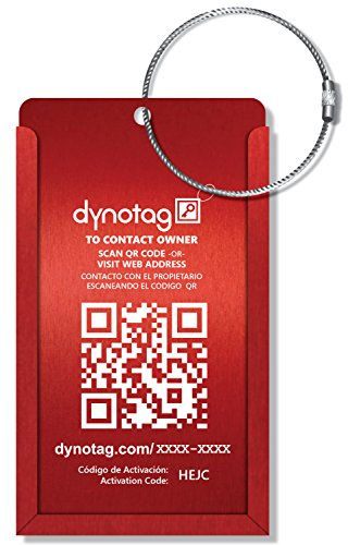 Dynotag Web Enabled Smart Aluminum Convertible Luggage ID Ta