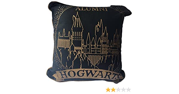 Cojín de Hogwarts de Harry Potter, 40 cm x 40 cm, Black Gold ...
