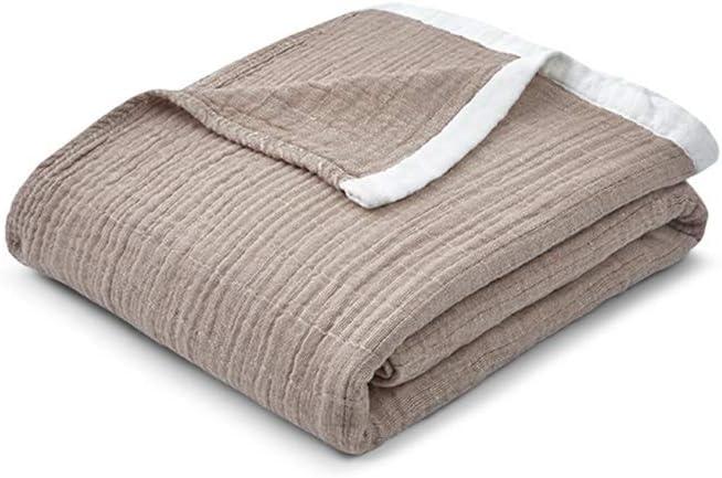 AQIALE Manta de Verano, Manta de sofá, Manta Delgada, Manta Individual de algodón Doble, Manta Suave,