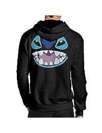 Lilo And Stitch Stitch Face Hoodies Sweatshirts Pullover Sweatshirts For Men