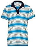 Orlebar Brown Men's Maxim Marine Striped S/S Knit Polo Shirt Large