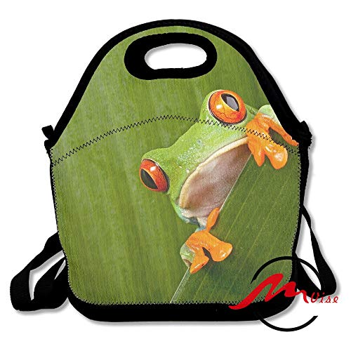 ZMvise Red Eye Tree Frog Lunch Tote Insulated Reusable Picnic Bags Boxes Men Women Youth Teens Nurses Travel Bag