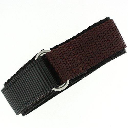 Tech Swiss VEL100BR-22 Watch Band Nylon One Piece - Leather Velcro Watch Band
