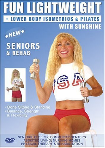 Senior Easy Light Weights Exercise DVD: Seniors / Elderly Easy Dumbbells Sitting and Standing Exercises for Strength and Balance . Easy Light Weights DVD good for Rehab & Physical Therapy. This Seniors Light Weights Fitness DVD is Good also for Easy Osteo by Funcercise