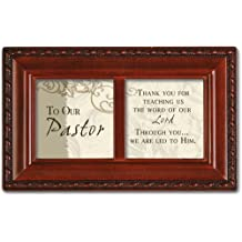 To Our Pastor Woodgrain Inspirational Cottage Garden Petite Music Box Plays How Great Thou Art