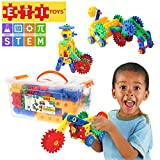 ETI Toys, STEM Learning, 74 Piece Educational Engineering Construction Blocks & Gears Building Set. Build Windmill, Airplane, Car, Crane & More. Gift, Toy for 4, 5, 6, 7 Year Old Boys and Girls