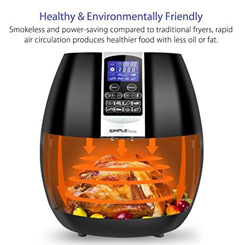 1400W Simple Taste Multi-function Electric Air Fryer, 3.2 QT