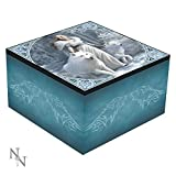 WINTER GUARDIANS LADY AND WOLVES MIRROR BOX ANNE STOKES - 10CM - NEMESIS NOW by Nemesis Now