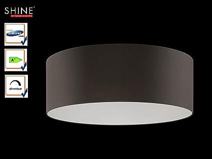 Plafoniera Tessuto Grande : Grandi led plafoniera shine loft Ø 100 cm tessuto paralume grigio