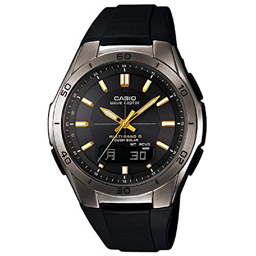 CASIO WAVE CEPTOR (WVA-M640B-1A2JF) 6 MULTI BANDS SOLAR MEN'S WATCH JAPANESE MODEL 2014 JULY RELEASED (Talking Solar Watch)
