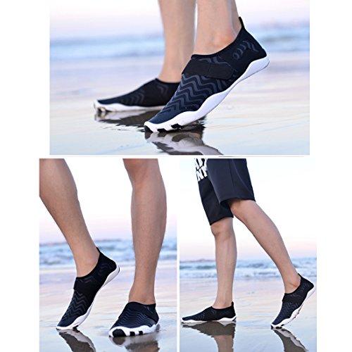 Strandschuhe Badeschuhe amp;D Herren Cool Aqua Schuhe Kinder Surfschuhe Atmungsaktiv Wasserschuhe Schwimmschuhe Schuhe Damen Schwarz Fitness für Aquaschuhe vqUqxd6w8
