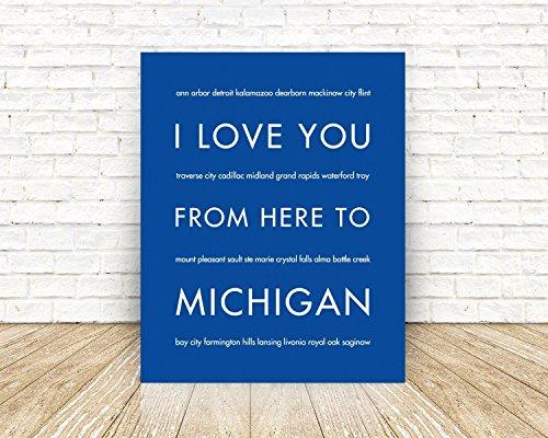Michigan State Travel Art Print (City Livonia)