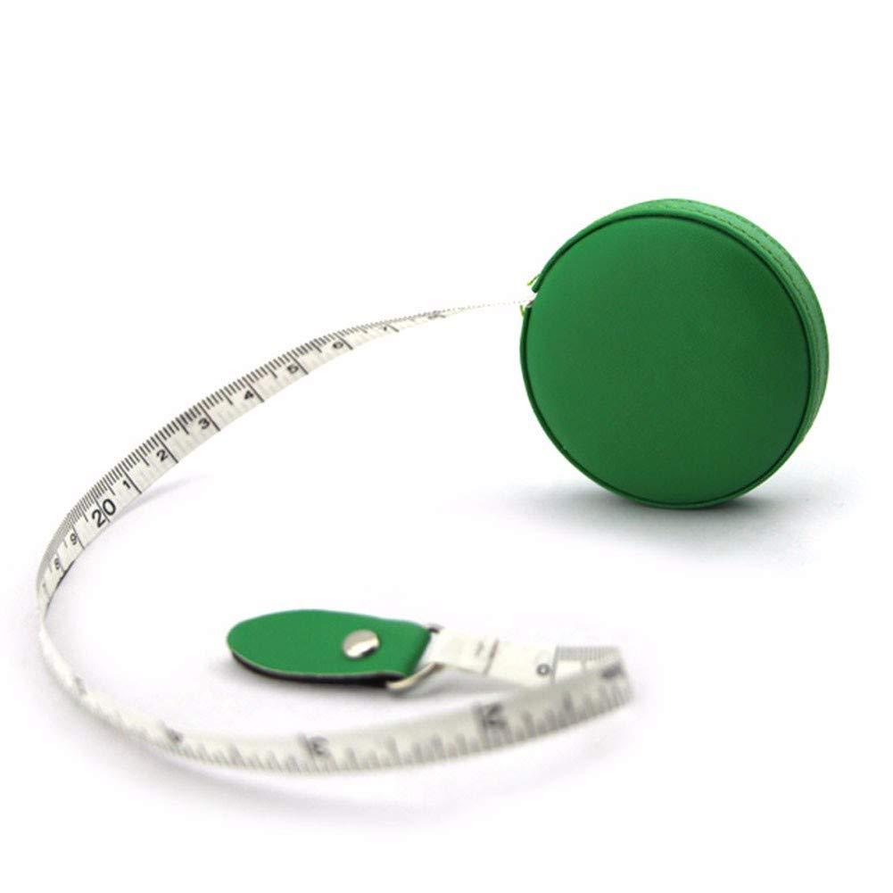WU-Meter ruler Round multi-color mini measuring tape measure leather PU telescopic ruler