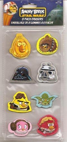 Bird Eraser - Angry Birds Star Wars 8 Pack Erasers