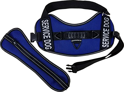 Activedogs Service Dog Kit Airtech Mesh Service Dog Vest Harness + Free Registered Service Dog ID + Clip-on Bridge Handle + 30 ADA/Federal Law Cards + Service Dog Travel Tag (L, Blue) by Activedogs (Image #6)