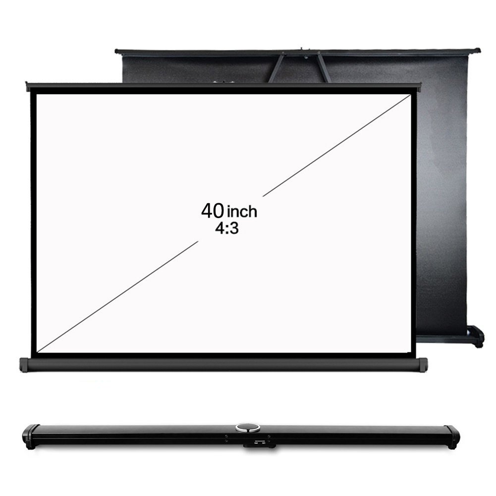 Everyone Gain Easy Carry 40inch 4:3 Mini Portable Matte White Projection Projector Table Screen For Office Business Training (40 inch 4:3)