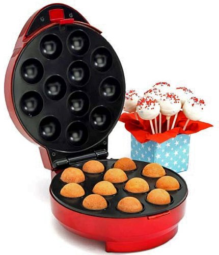 American Originals Cake Pop Maker EK1071 (Mk II) - Bakes 12 cakes at a time - UK Model - Vibrant Red by American Originals