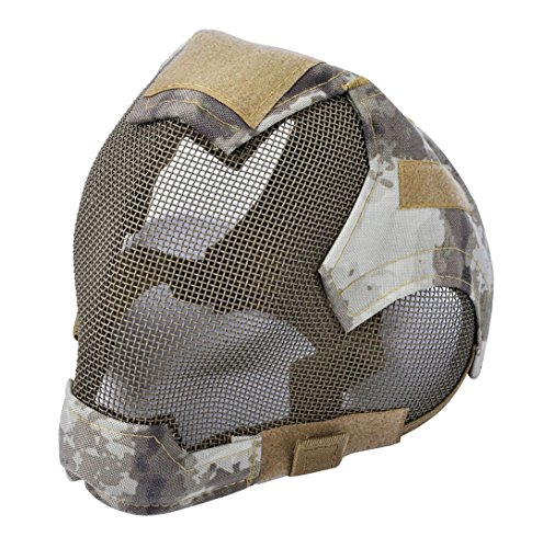 Outgeek Airsoft Mask Full Face Mask War Game Steel Mesh Protective Mask by Outgeek
