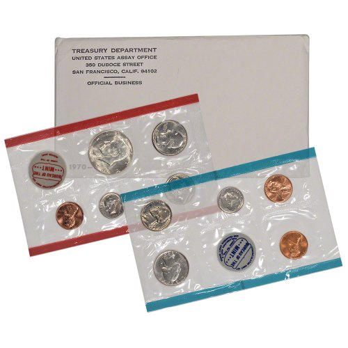 1970 US Mint Uncirculated Coin Set OGP