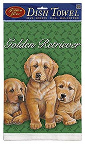Kitchen Towel--Dog Design--Golden Retriever Puppies--Printed in the USA--22
