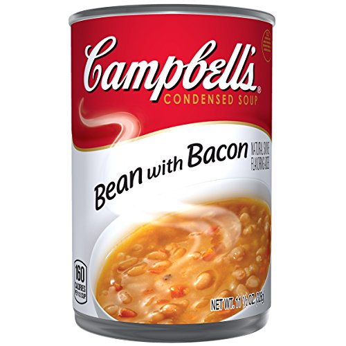 Campbell's Condensed Soup, Bean with Bacon, 11.5 Ounce (Pack of (White Bean Soup Recipe)