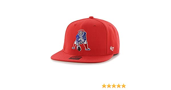0972cbdda0807 Amazon.com    47 England Patriots Brand Super Shot Red Strapback Hat    Sports   Outdoors